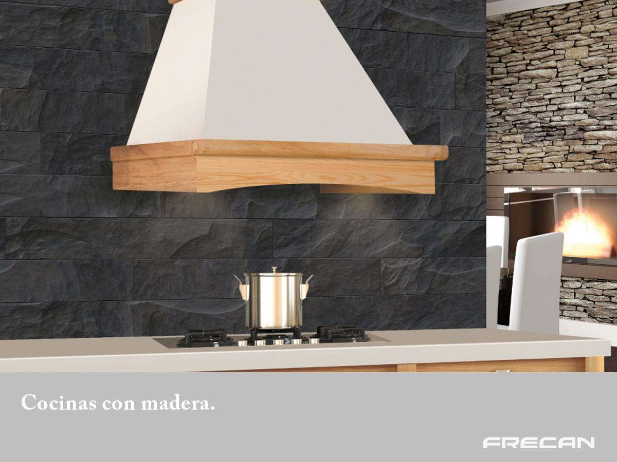 Cocinas con madera blog de frecan - Campana de cocina ...