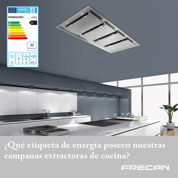 Etiqueta energética campanas extractoras de cocina Frecan