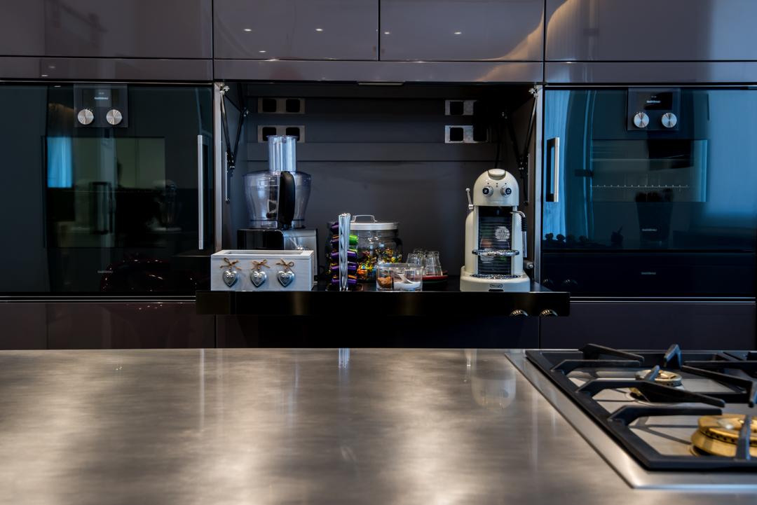 Arclinea cocinas profesionales encimeras de inox for Cocina profesional