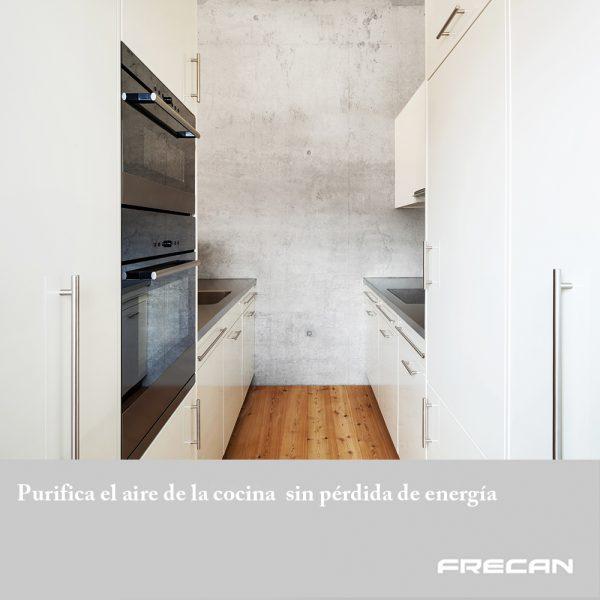 Purifica el aire de la cocina sin pérdida de energía. Plasma Frecan