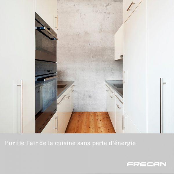 Purifie l'air de la cuisine sans perte d'énergie. Plasma Frecan
