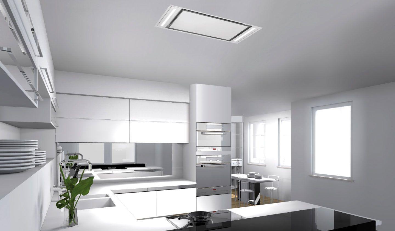 Campana extractora de cocina de techo nitro frecan for Extractor de cocina de pared