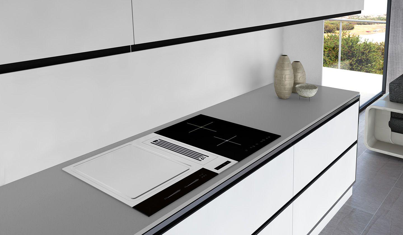 Campana de aspiraci n de superficie flow 2 frecan for Superficie cocina